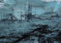 Trauer, Ohnmacht, Flugzeugabsturz, Malerei