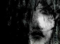Gesicht, Schatten, Schwarz weiß, Ausdruck