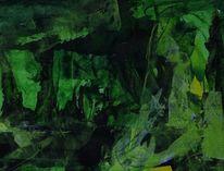 Schatten, Grün, Gelb, Tiefe