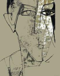 Ausdruck, Erinnerung, Augen, Verlust