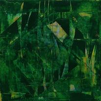 Abstrakt, Ichsehewaswasdunichtsiehst, Grün, Gelb
