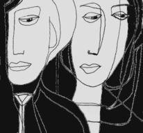 Schwarz weiß, Lyrik, Zeichnungen