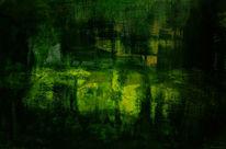 Grün, Gelb, Licht, Malerei