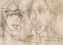 Gesicht, Ausdruck, Portrait, Skizze