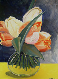 Blumen, Vase, Frühling, Tukpen