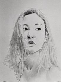 Portrait, Mädchen, Blond, Zeichnungen