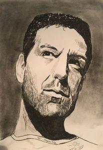 Portrait, Mann, Malerei,