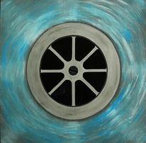 Wasser, Acrylmalerei, Schwarz weiß, Blau