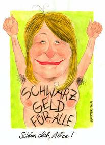 Cartoon, Konto, Schwarz, Karikatur
