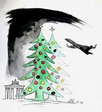 Anschlag, Berlin, Terror, Zeichnungen