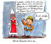 Tebartz, Van elst kirche, Bischof, Cartoo