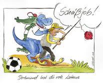 Klopp, Cartoon, Fußball, Bundesliga