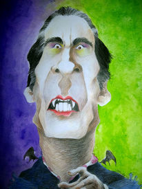 Dracula, Karikatur, Cartoon, Zeichnungen