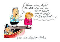 Stoiber, Angela merkel, Karikatur, Cartoon