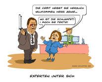 Merkel, Schwarzenegger, Zeichnungen,