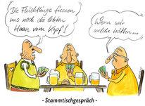 Cartoon, Deutschland, Flüchtling, Karikatur