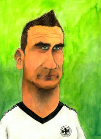 Wm, Fußball, Karikatur, Cartoon