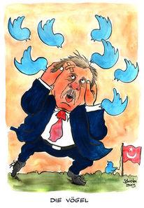 Cartoon, Erdogan, Twitter, Kariatur