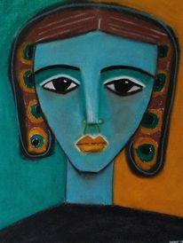 Türkis, Blau, Malerei,