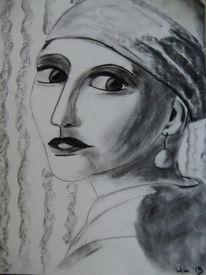 Zeichnungen, Augen, Mädchen