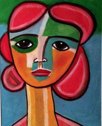 Rot, Bunt, Augen, Malerei
