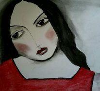 Rot schwarz, Kohlezeichnung, Zeichnungen, Studie
