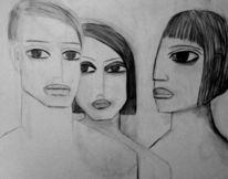 Menschen, Spannung, Zeichnungen,