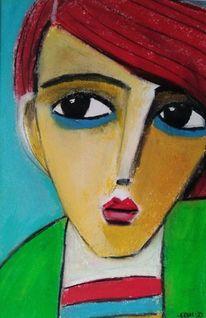 Schön, Gedanken, Weg, Malerei