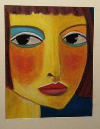 Gelb, Orange, Blau, Malerei