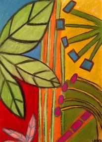 Bunt, Lebensfreude, Gelb, Malerei