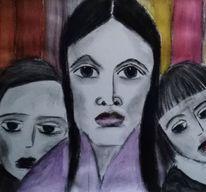 Mutter, Kinder, Farben, Zeichnungen