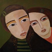 Angst, Nähe, Ablehnung, Malerei