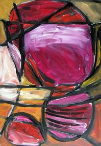 Malerei, Abstrakt, Regen