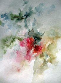 Aquarellmalerei, Nass, Schicht, Pflanzen
