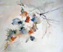 Abstrakt, Skizze, Blumen, Schicht