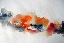 Nass, Aquarellmalerei, Landschaft, Aquarell