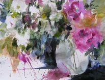 Pflanzen, Aquarellmalerei, Blumen, Aquarell