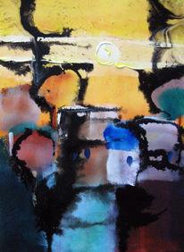 Malerei, Abstrakt, Sommer