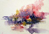 Skizze, Landschaft, Abstrakt, Aquarellmalerei