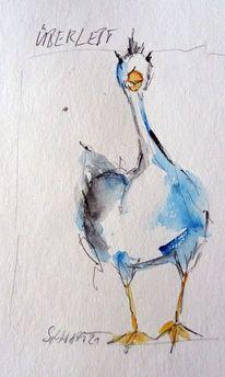 Zeichnung, Tiere, Skizze, Aquarell