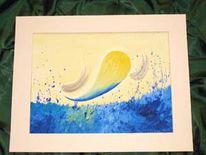 Abstrakt, Seele, Acrylmalerei, Malerei