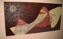 Sand, Mischtechnik, Acrylmalerei, Malerei
