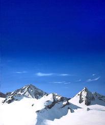 Himmel, Berge, Malerei, Realismus