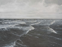 Realismus, Wasser, Ölmalerei, Welle