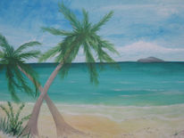 Urlaub, Meer, Palmen, Strand