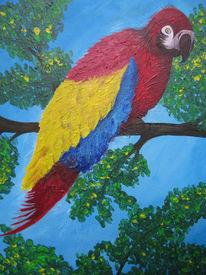 Bund, Papagei, Malerei