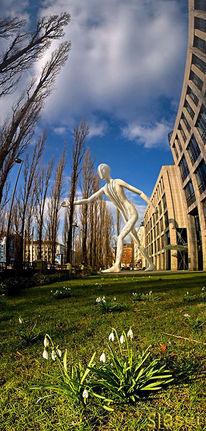 Walkingman, München, Schneeglöckchen, Digitale kunst