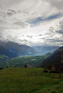 Südtirol, Vertikalpanorama, Italien, Prad