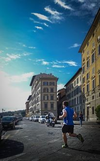 Sonnenuntergang, Florenz, Nebel, Marathon
