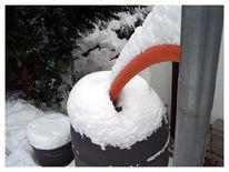 Winter, Fotografie, Schlauch, Fass